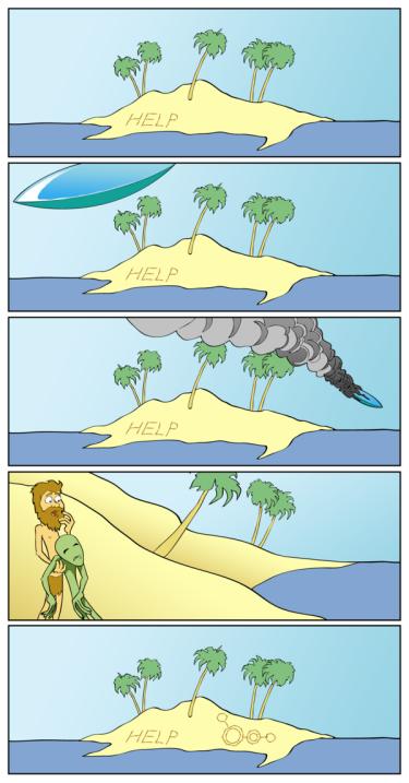 Комиксы-необитаемый-остров-пришелец-794780